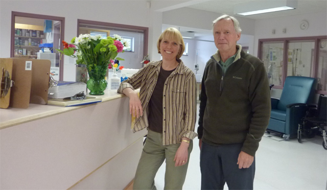 Nurse practitioner, Laura Koop, and GP rural locum, Dr. Robert Henderson, are part of the healthcare team in Gold River, BC